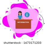 woman  information cartoon icon....