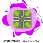 road circle colored icon....