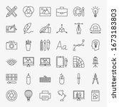 designer line icons set. vector ...