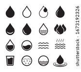 water icon  drop icon. design... | Shutterstock .eps vector #1673192326