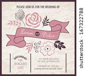 wedding invitation card or... | Shutterstock .eps vector #167322788