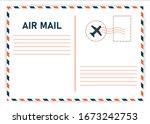 Air Mail. Postcard Travel...