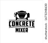 concrete mixers mix and agitate | Shutterstock .eps vector #1673248630