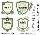 vector money frame and badge...