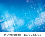 abstract blue background .... | Shutterstock .eps vector #1673253733