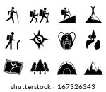 hiking icons | Shutterstock .eps vector #167326343