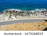 view from a high mountain on...   Shutterstock . vector #1673268019