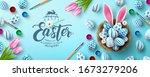 easter poster and banner... | Shutterstock .eps vector #1673279206