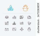 kitchen icons set. juicer and...