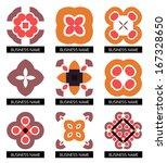 flat geometric business symbols....