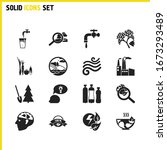 ecology icons set with explore...
