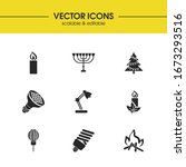 energy icons set with paraffin  ...