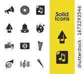 music icons set with xylophone  ...