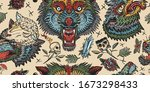 werewolf in sheep clothing... | Shutterstock .eps vector #1673298433
