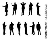 silhouettes of businesspeople | Shutterstock .eps vector #167330963