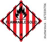flammable solid sign. dangerous ... | Shutterstock .eps vector #1673334706