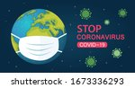 a medical mask protects against ...   Shutterstock .eps vector #1673336293