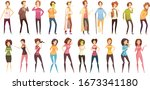 colored isolated sickness...   Shutterstock .eps vector #1673341180