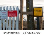 Warning Signs For Railway Line...