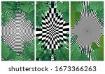 abstract hypnotic background of ... | Shutterstock .eps vector #1673366263