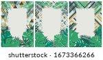 creative set of brochures with... | Shutterstock .eps vector #1673366266