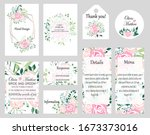 big set of vector cards with... | Shutterstock .eps vector #1673373016