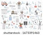 medical alphabet for children.... | Shutterstock .eps vector #1673391463