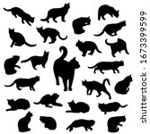 set vector silhouettes of the... | Shutterstock .eps vector #1673399599