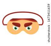 angry eyes print sleeping mask... | Shutterstock .eps vector #1673411659