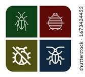 set of insects icons. such as... | Shutterstock .eps vector #1673424433