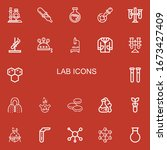 editable 22 lab icons for web... | Shutterstock .eps vector #1673427409