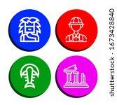 dinosaur simple icons set....   Shutterstock .eps vector #1673428840