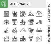 set of alternative icons. such... | Shutterstock .eps vector #1673430460