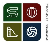 set of recreational icons. such ... | Shutterstock .eps vector #1673430463