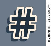black hashtag icon isolated on...