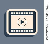 black play video icon isolated...   Shutterstock .eps vector #1673437630