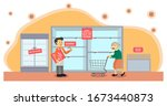 coronavirus covid 19 virus...   Shutterstock .eps vector #1673440873