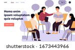 people suffering from problems  ... | Shutterstock .eps vector #1673443966