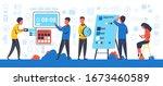 deadline concept. business... | Shutterstock .eps vector #1673460589