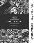 italian pasta with addition... | Shutterstock .eps vector #1673460739
