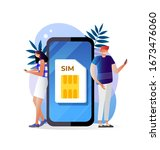 sim card concept in vector...