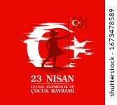april 23 turkish national... | Shutterstock .eps vector #1673478589