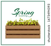 spring banner template with... | Shutterstock .eps vector #1673494393