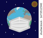 image of the planet earth in... | Shutterstock .eps vector #1673512540