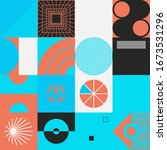 digital collage of vector... | Shutterstock .eps vector #1673531296
