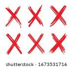 letter x logo.grunge cross sign. | Shutterstock .eps vector #1673531716