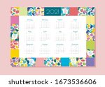 vector one page horizontal... | Shutterstock .eps vector #1673536606