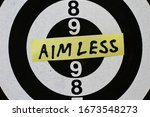 Small photo of Sticker text: Aimless in the center of the target for shooting.