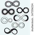 infinity symbol isolated on... | Shutterstock .eps vector #167356214
