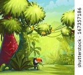illustration sunny morning in... | Shutterstock . vector #167357186
